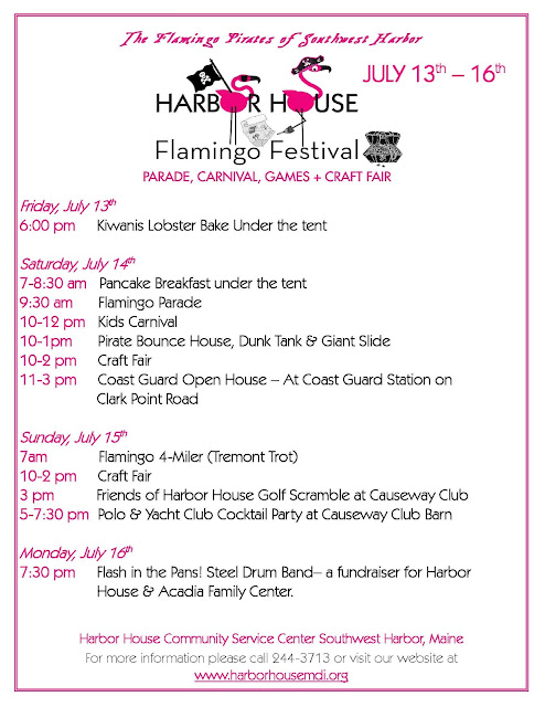 Harbor House 2012 Flamingo Festival Schedule, Southwest Harbor, Maine
