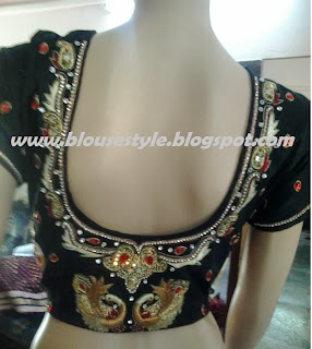 black stone work blouse