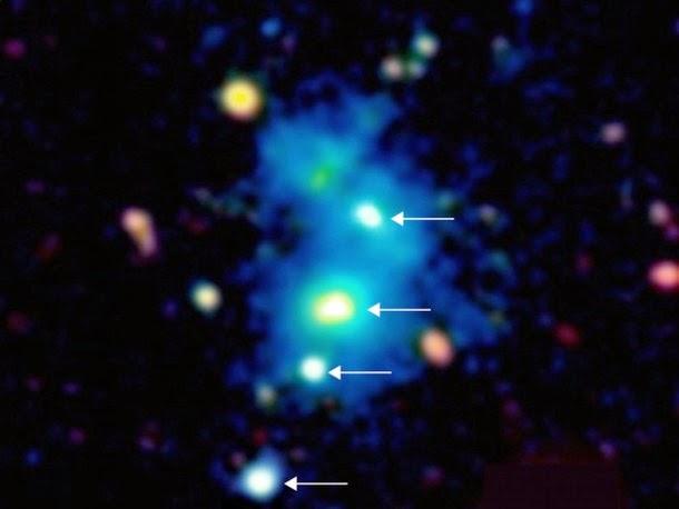 Descoberta de quarteto de quasar raro deixa astrónomos perplexos
