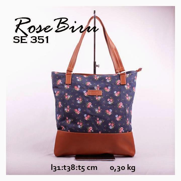 jual online handbag kanvas murah comb sintetis motif rose