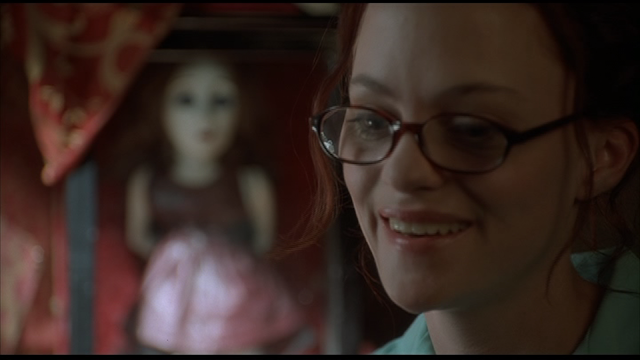 MAY (2002): Angela Bettis as May Canady with Suzy