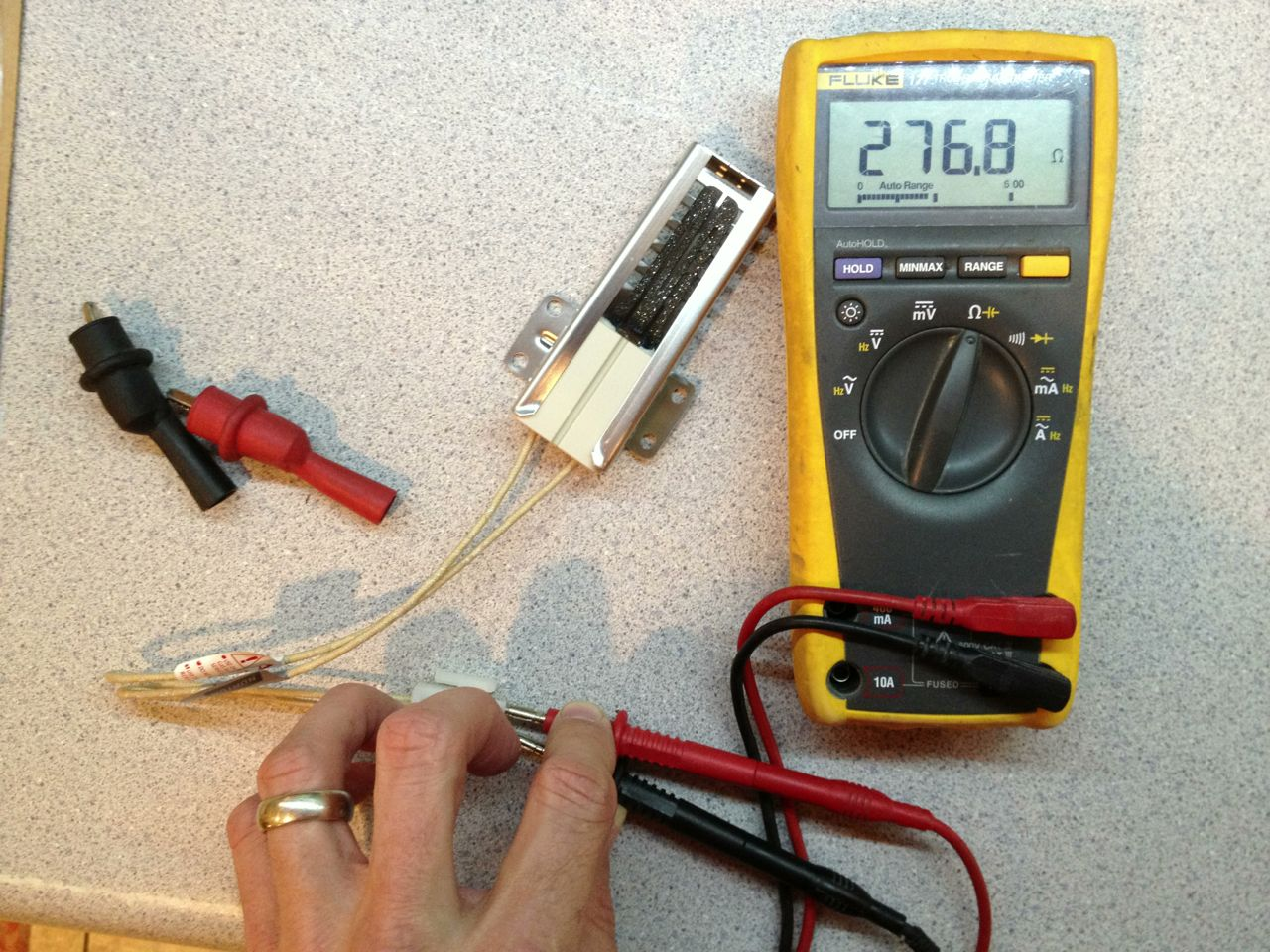How To Replace The Igniter On A Ge Xl44 Oven Share Your Repair Wiring Diagram Resistance Reading Of New