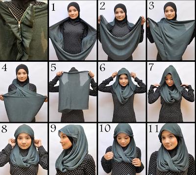 Cara Memakai Jilbab terbaru