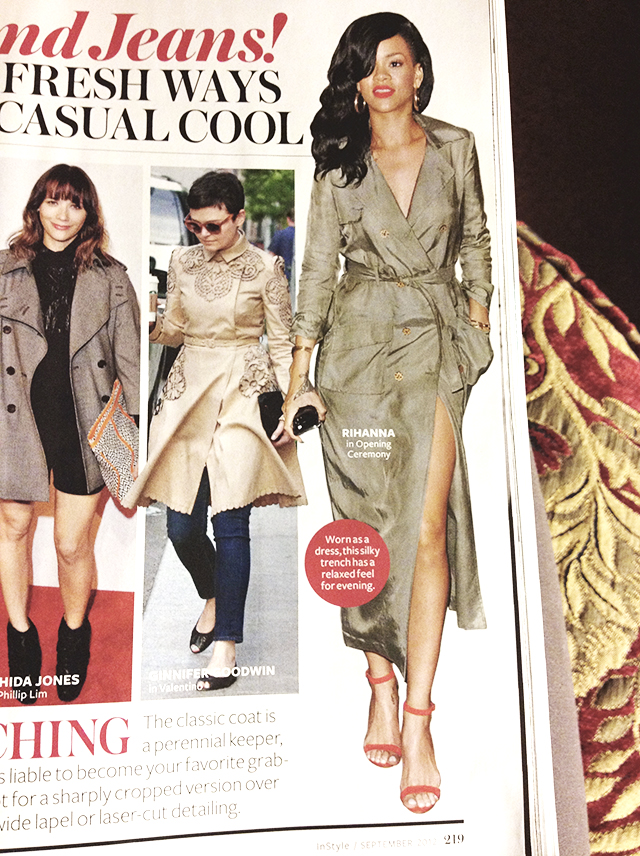 Rihanna in Opening Ceremony trench