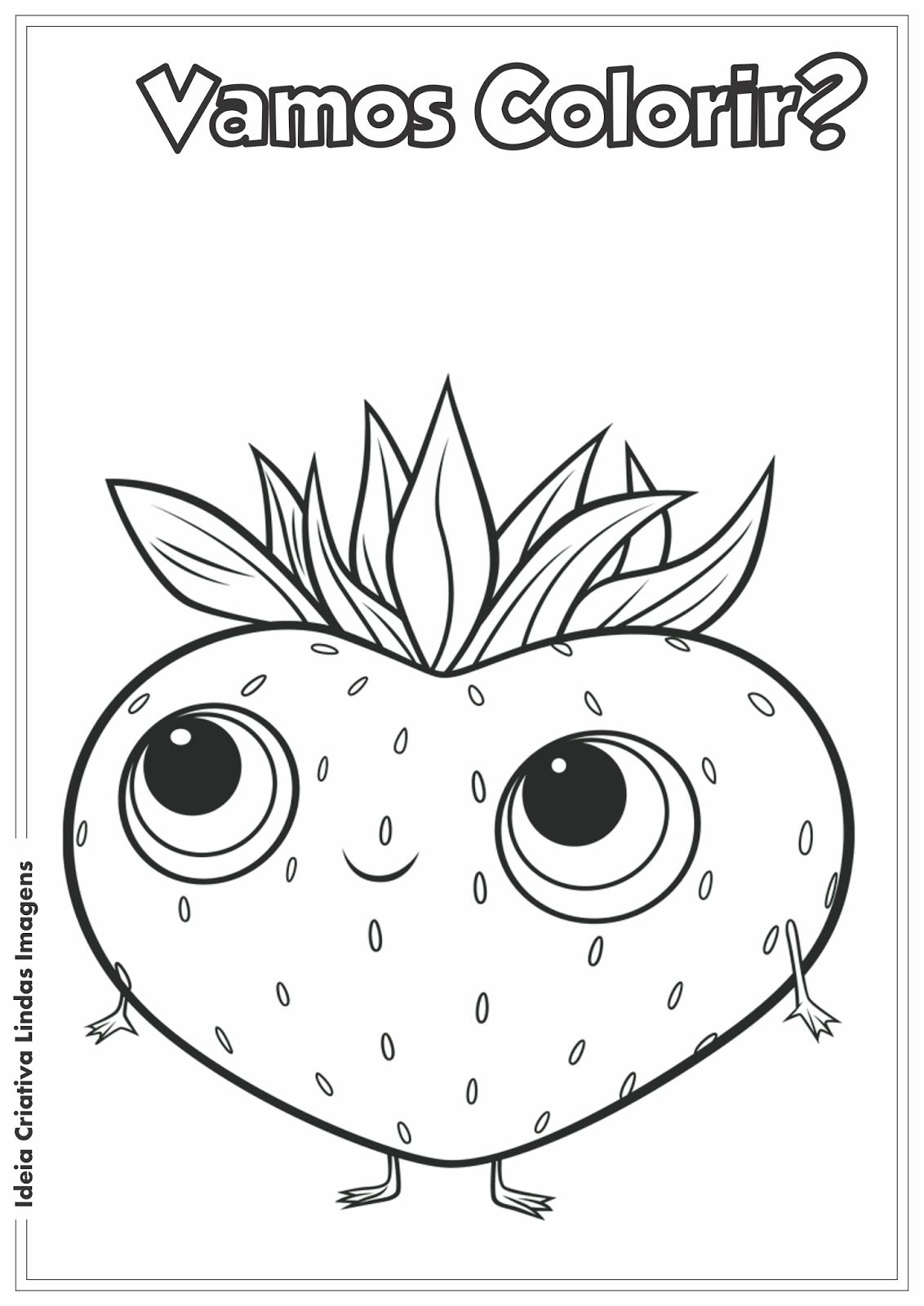 Desenho pra colorir - Tá chovendo Hambúrguer