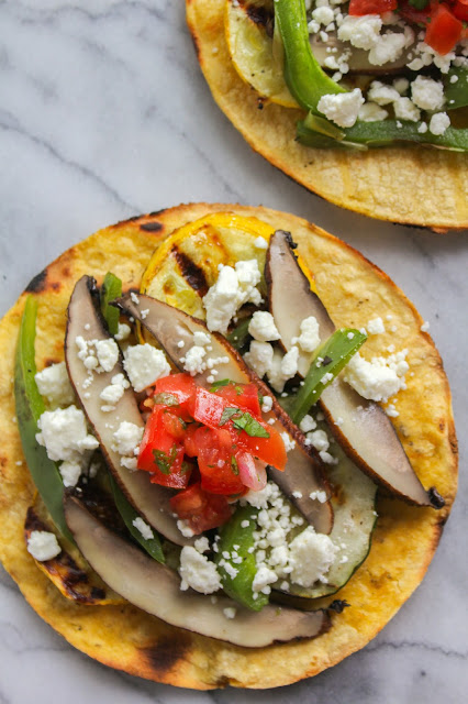 Grilled Vegetable Tostadas with Feta and Fresh Tomato Salsa | The Chef ...