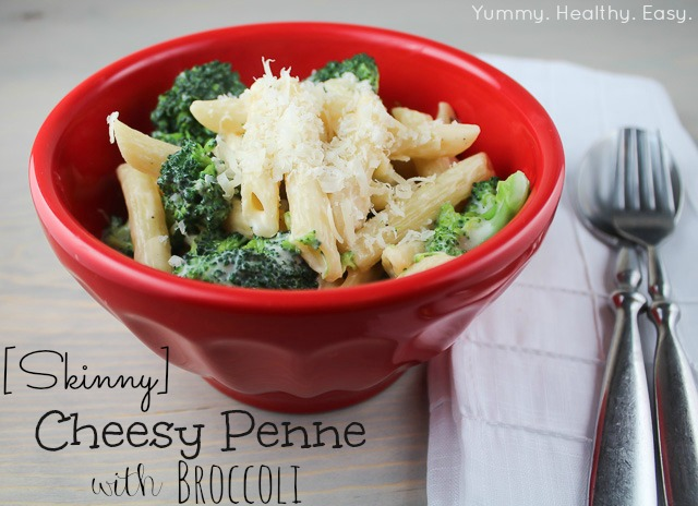Skinny Cheesy Penne with Broccoli