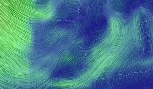 Vientos del mundo en tiempo real