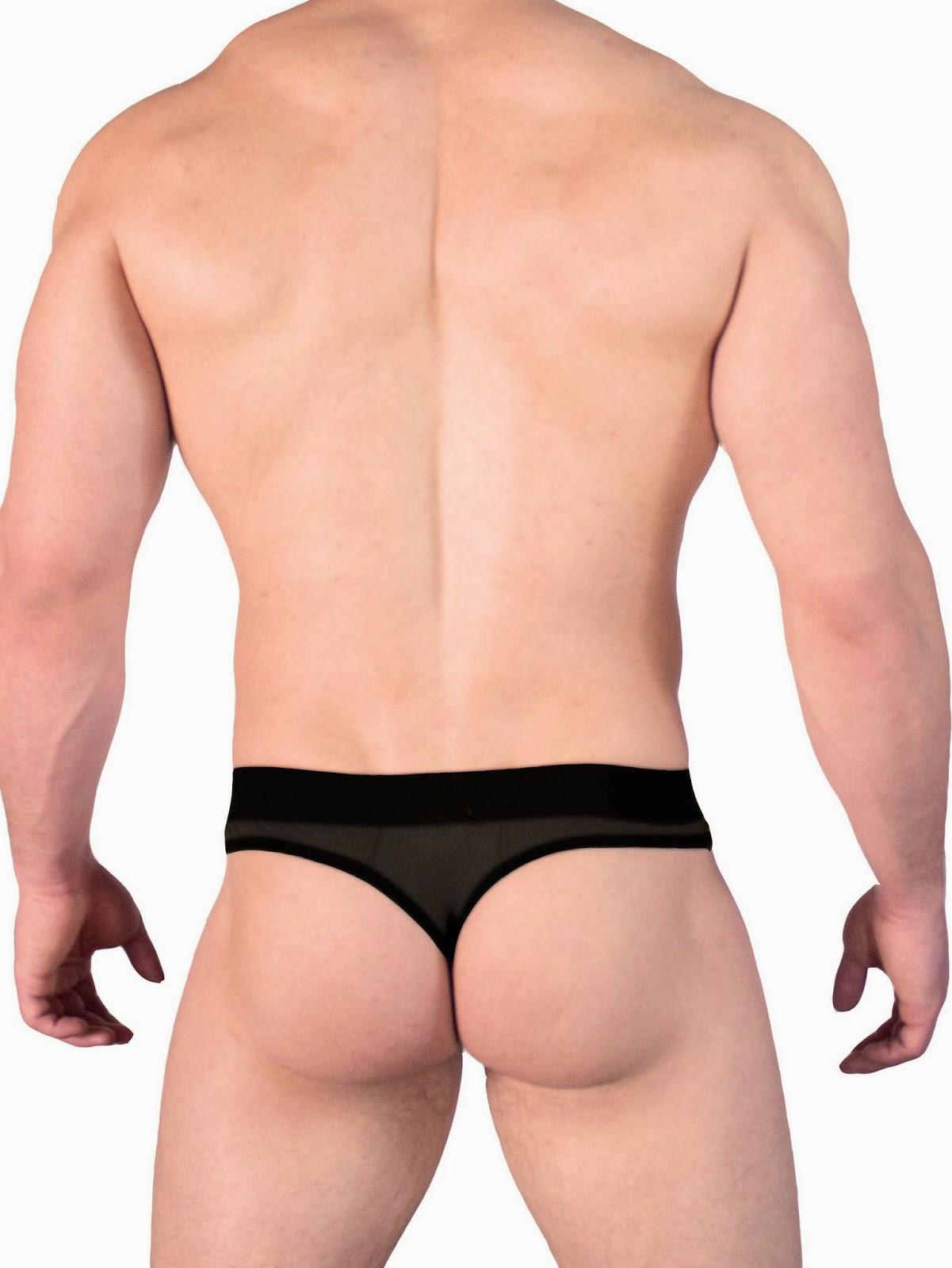 GBGB Wear Marius Thong Underwear See-Through Pouch Back Gayrado