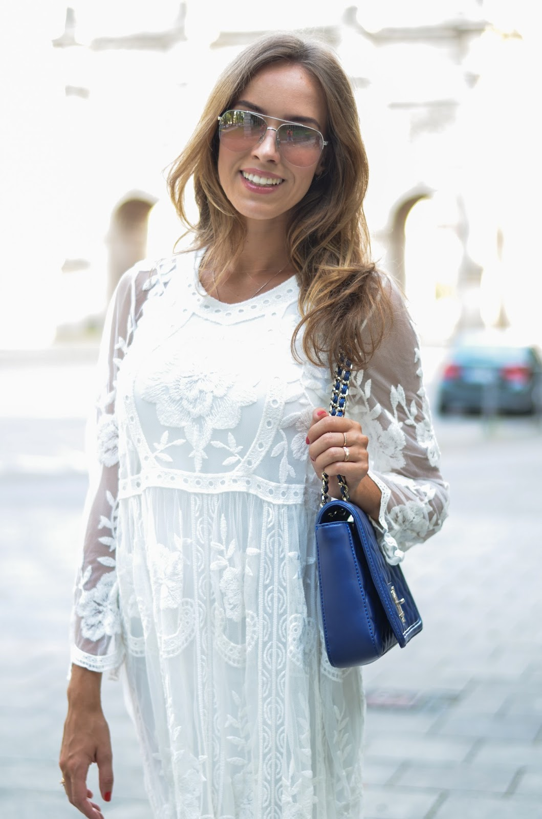 kristjaana mere white lace dress summer 2015 trend