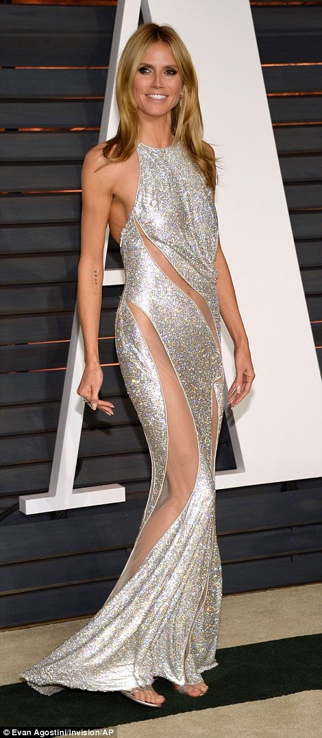 Most revealing outfit at the 2015 vanity fair oscars after party
