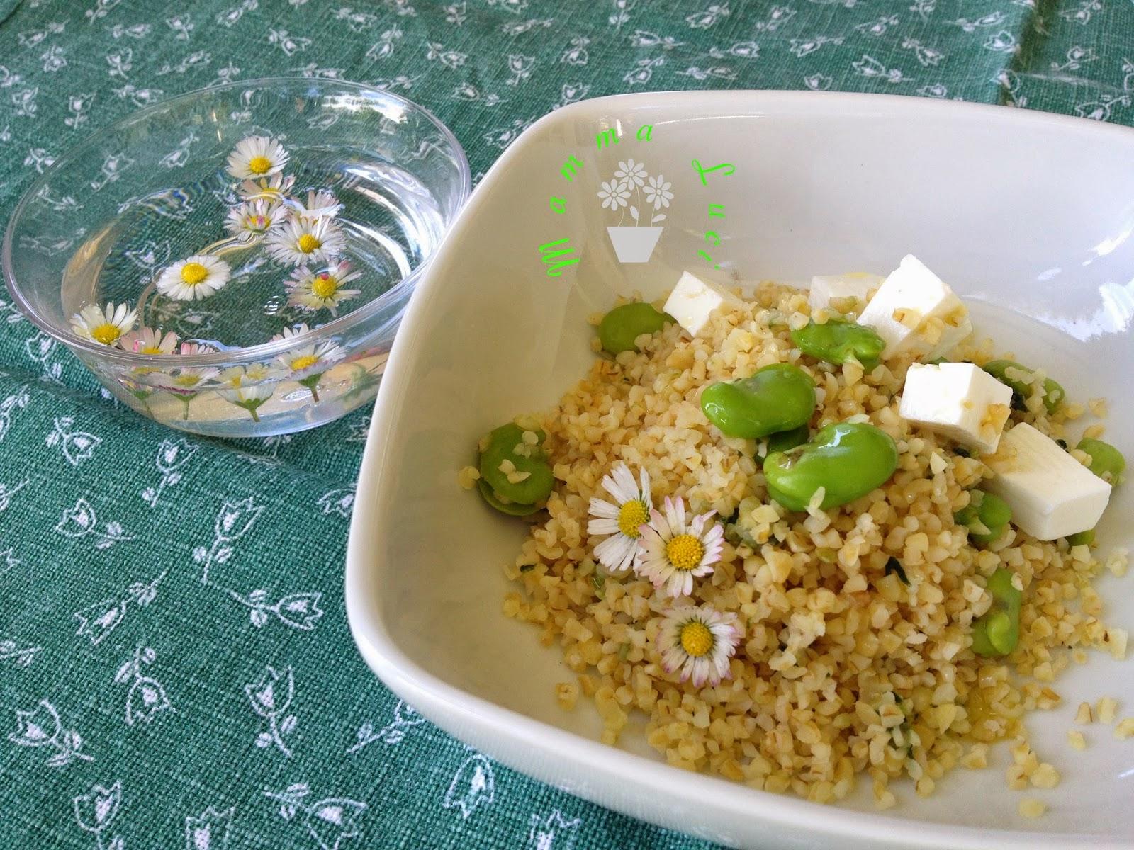 Tabulè di Bulgur con fave e tofu