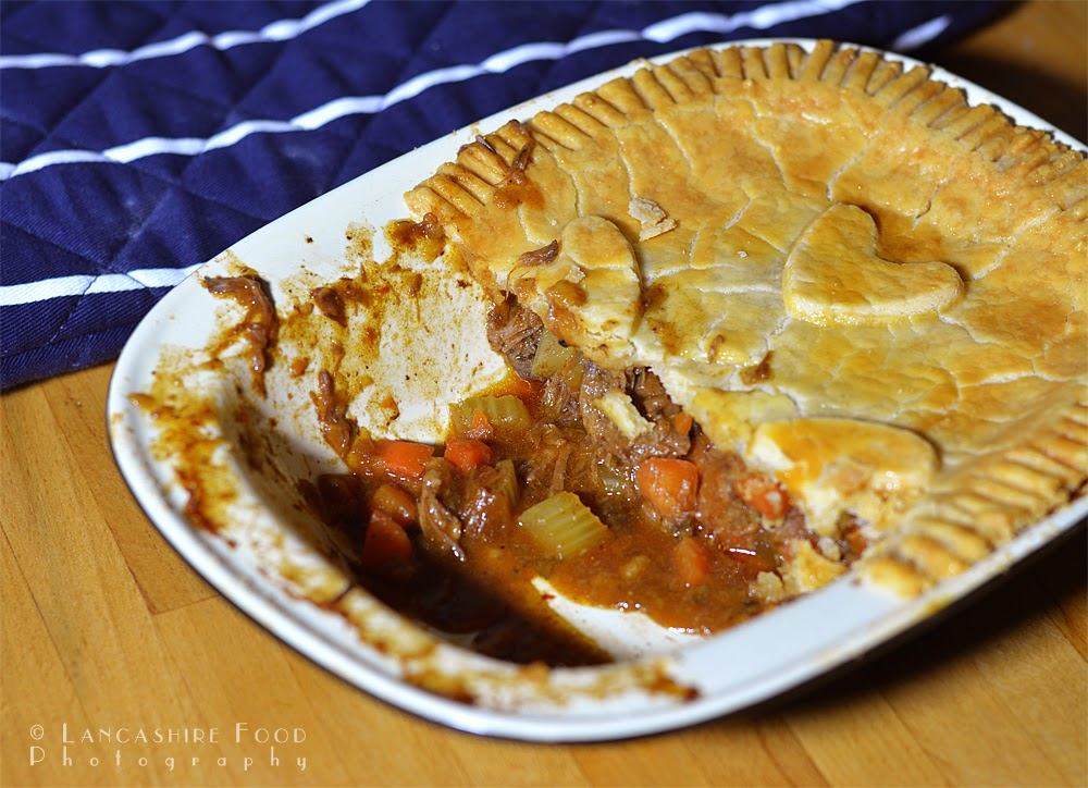 Gluten Free Beef brisket, carrot and celery pie - with a delicious pastry top