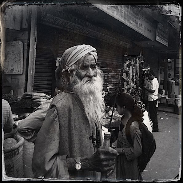 Man in old Delhi market © Connie Gardner Rosenthal