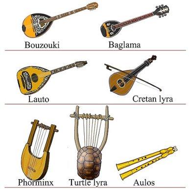 ギリシャの楽器 イラスト
