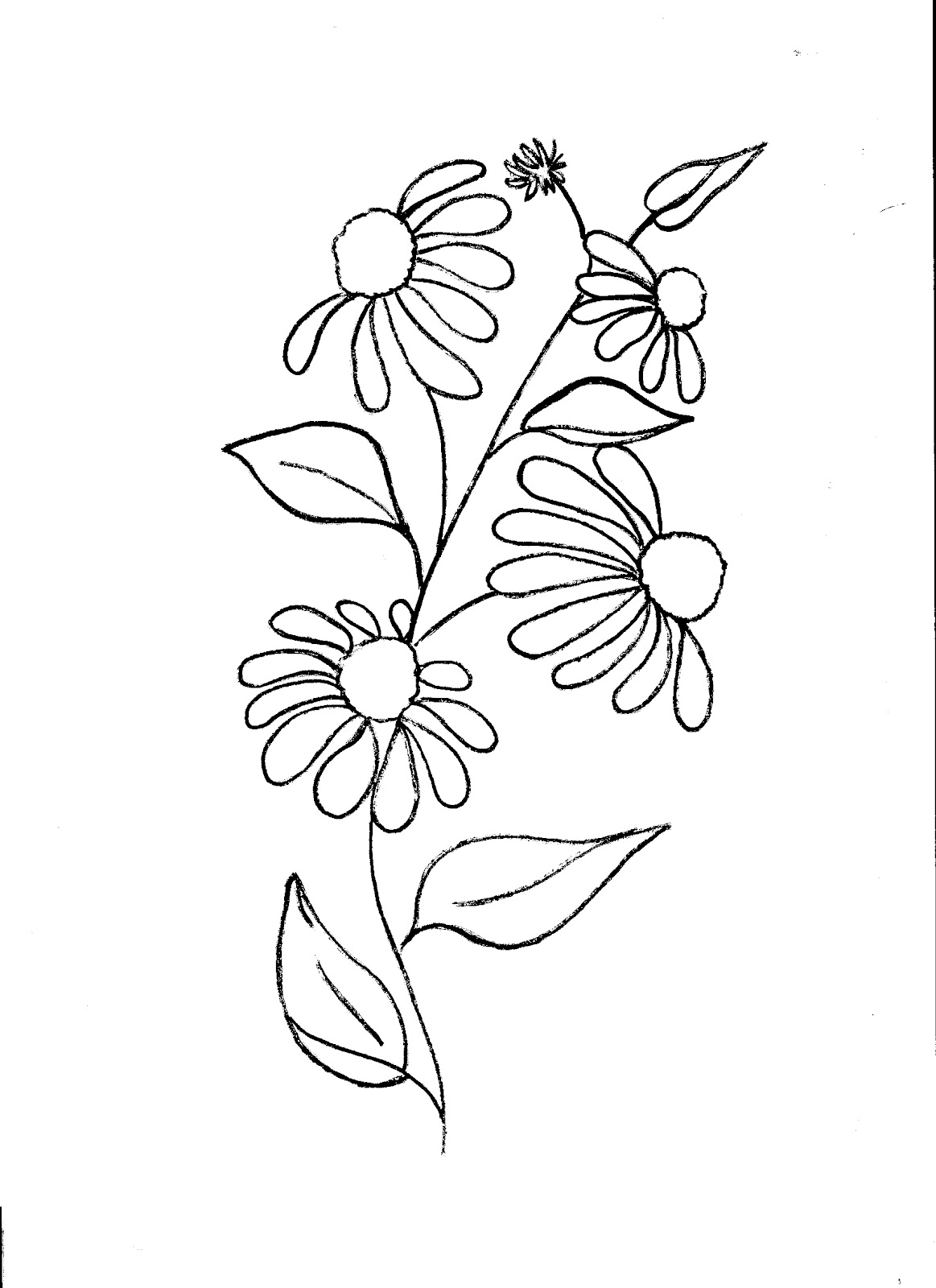 easy flower patterns to draw image information