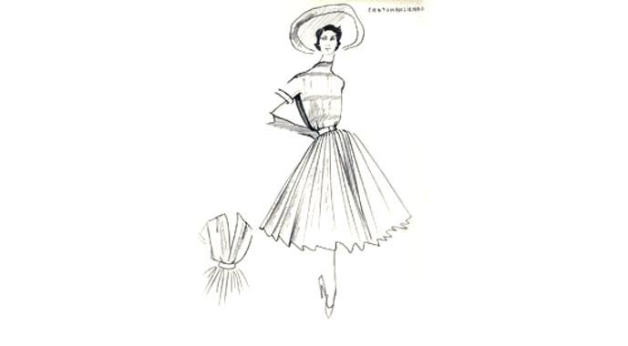 Christian Dior original sketch