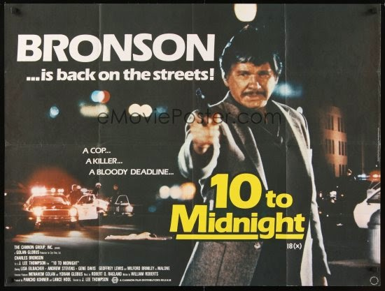 10 to Midnight (1983) Cannon Group :: City Films :: MGM / EP: Menahem Golan, Yoram Globus / P: Pancho Kohner, Lance Hool / D: J. Lee Thompson / W: William ...
