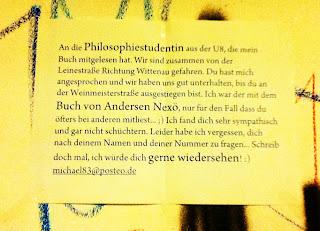 Leinestraße BVG U-Bahn Berlin Liebe Philosophiestudentin Nexö Michael