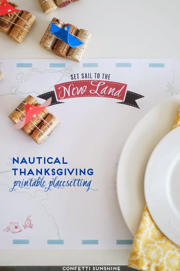 Confetti Sunshine nautical Thanksgiving printables