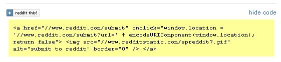 reddit button code