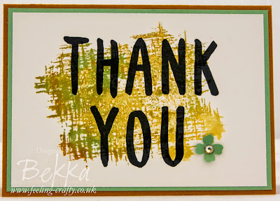 Layered Letters and You've Got This Thank You Cards by Stampin' Up! UK Independent Demonstrator Bekka - check them out here