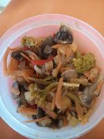 Ensalada con brocoli y champiñones