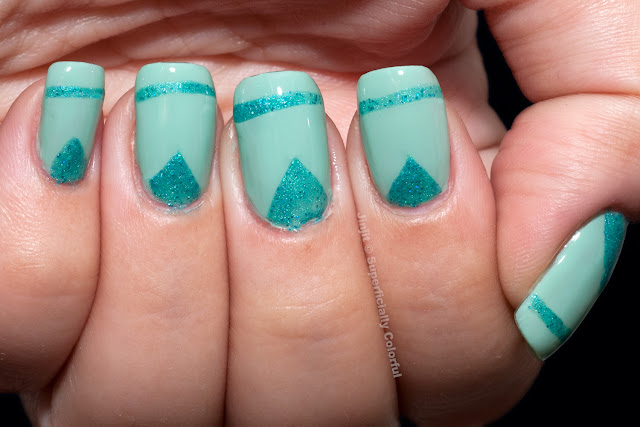 Mint Mani for Talia  Bell Air Flow Lotus Effect 712 SoFlaJo My Sign's Aqua-Rium