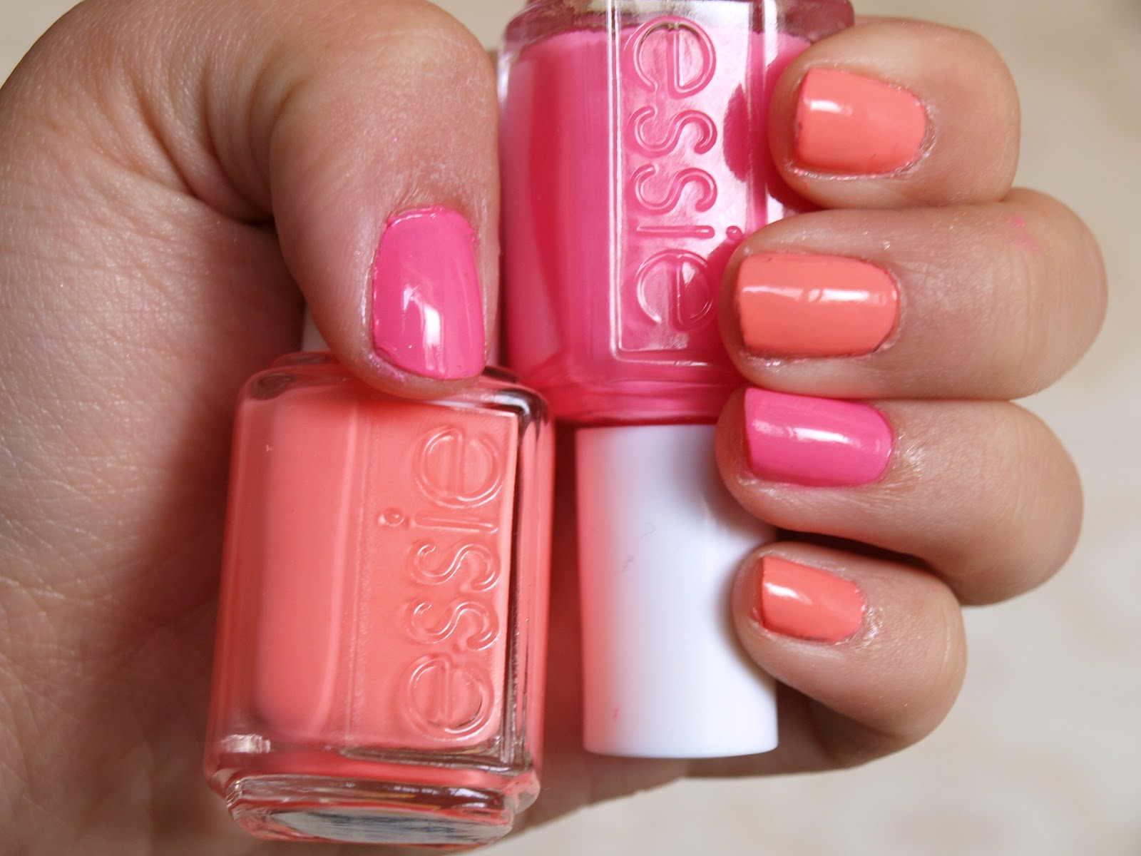 See it, Love it, Swatch it.: NOTD: Essie Knockout Pout + Haute As Hello