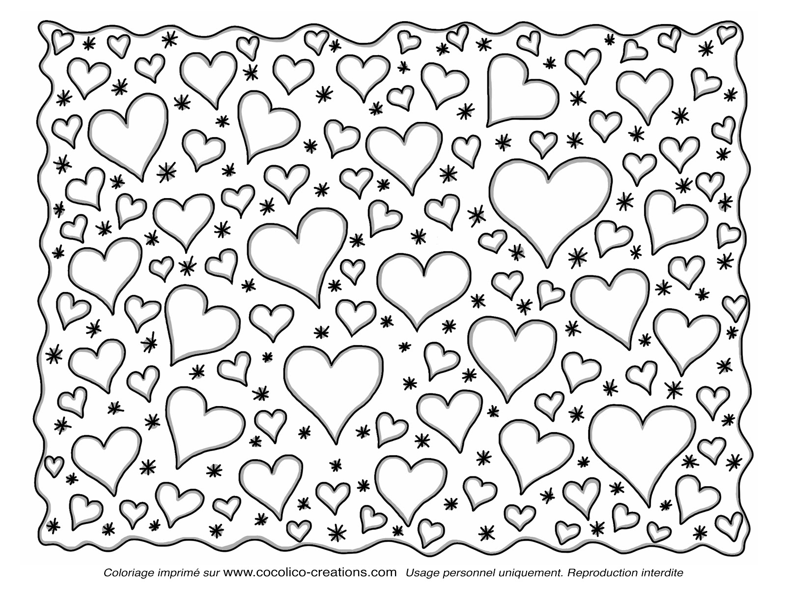 Cocolico creations coeurs for Motif dessin