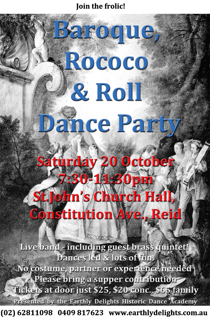 Baroque And Roll October Poster on Country Waltz Dance Steps