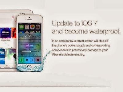 Iklan Palsu iOS 7 Kalis Air Bodohkan Pengguna, Rosakkan iPhone