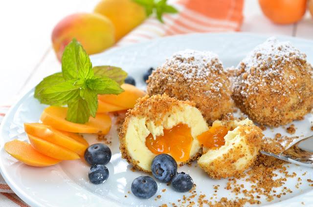 Apricot Dumplings - famous in Austria