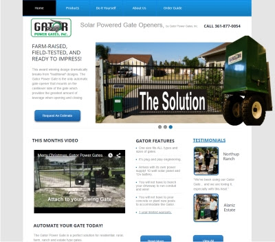 Gator Power Gates website