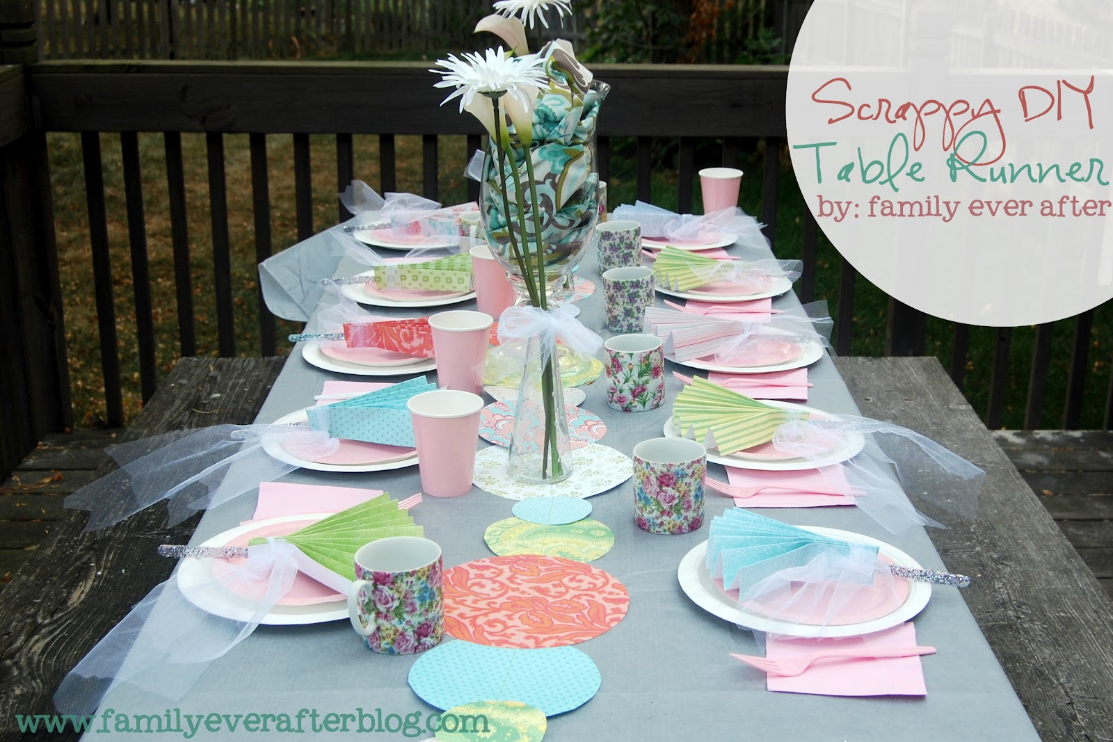 family ever after diy tea party decorations