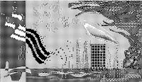 pixel art, macpaint, old school, B/W, computer art, UNTITLED 9