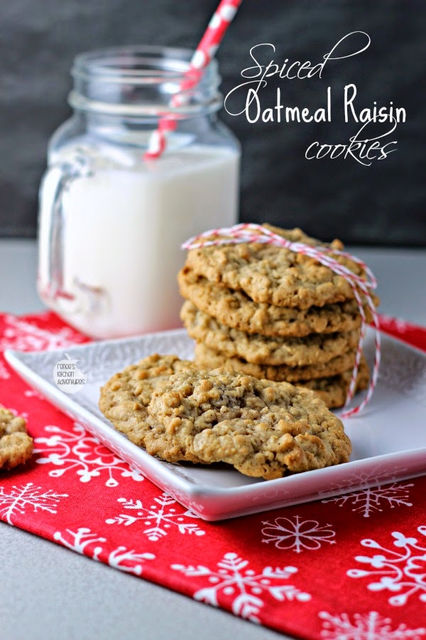 Spiced Oatmeal Raisin Cookies | a twist on the classic cookie!