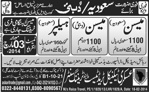 FIND JOBS IN PAKISTAN MASON JOBS IN PAKISTAN LATEST JOBS ION PAKISTAN