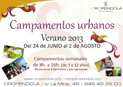 Oropéndola, Guadalajara, Campamento urbano, campamento verano, vacaciones, planes, niños, infancia, de 3 a 12 años, juegos, dejar a los niños en verano, actividades de verano, junio, julio, 2013
