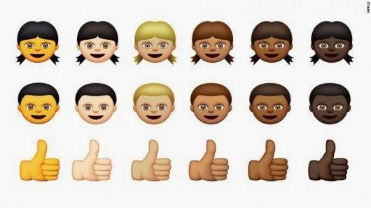 Une partie des nouveaux émoticônes d'Apple. Apple