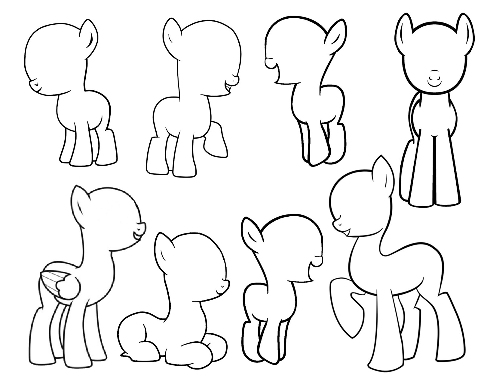 My little pony body drawing doodle craft design and draw your - Design And Draw Your Own My Little Pony