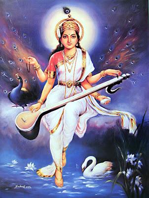 gratitude grace growth saraswati hindu goddess