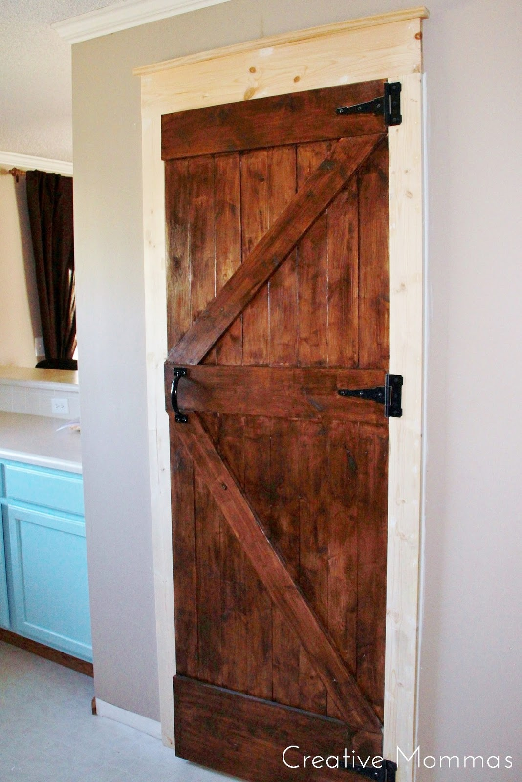 Creative mommas pantry makeover for Pantry barn door hardware