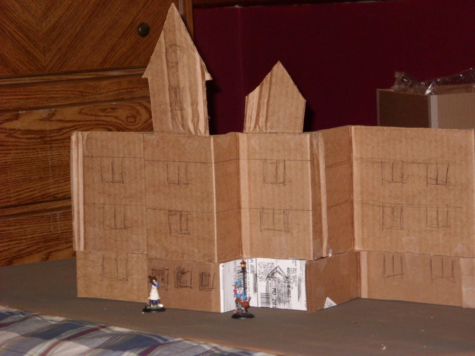how to make a mansion out of cardboard