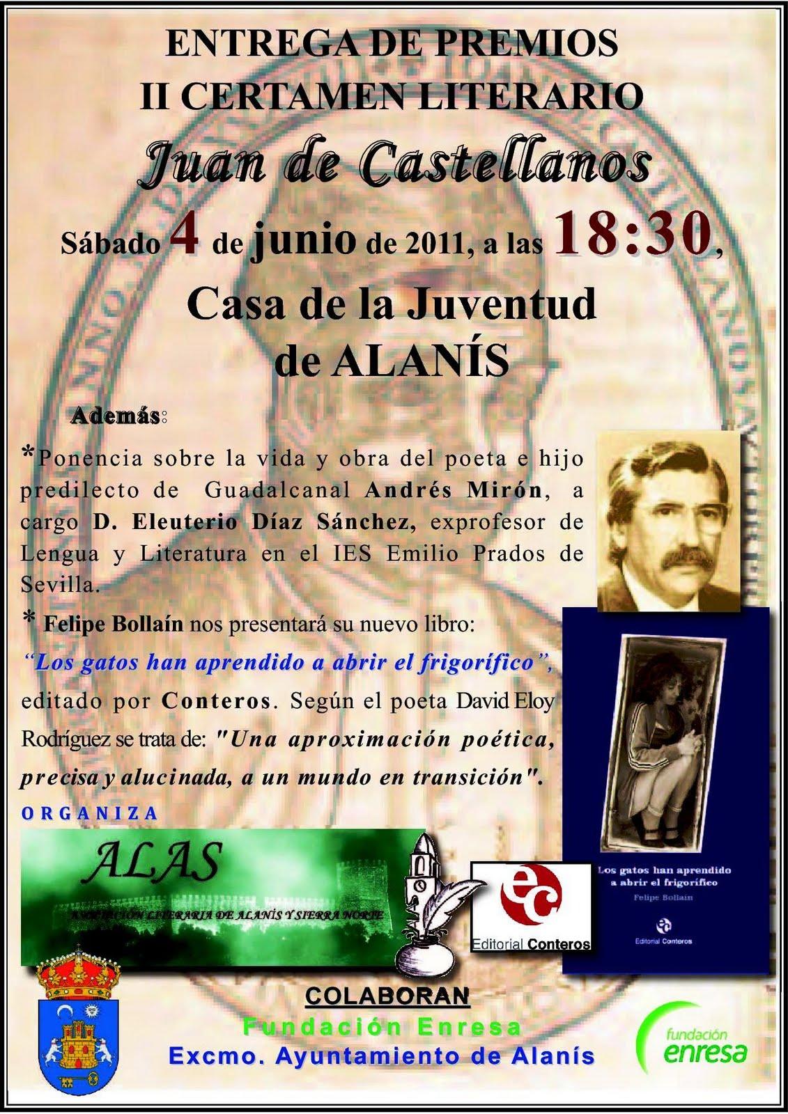Entrega de premios del ii certamen literario escolar juan de castellanos - Hosteria casa adriano alanis de la sierra sevilla ...