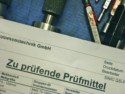 """""""Zu prüfende Prüfmittel"""" ... Formular und Werkzeug"""
