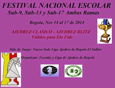 Bogota: Festival Nacional Escolar U9, U13 y U17 Ambas Ramas (Dar clic a la imagen)