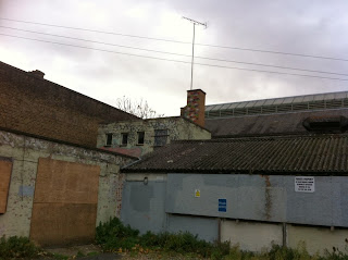 Abandoned buildings on the Fulham High Street, London W6