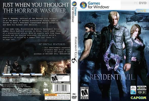 Platform - PC, Size: 5.8 GB, Resident evil 6-Black Box, Publisher
