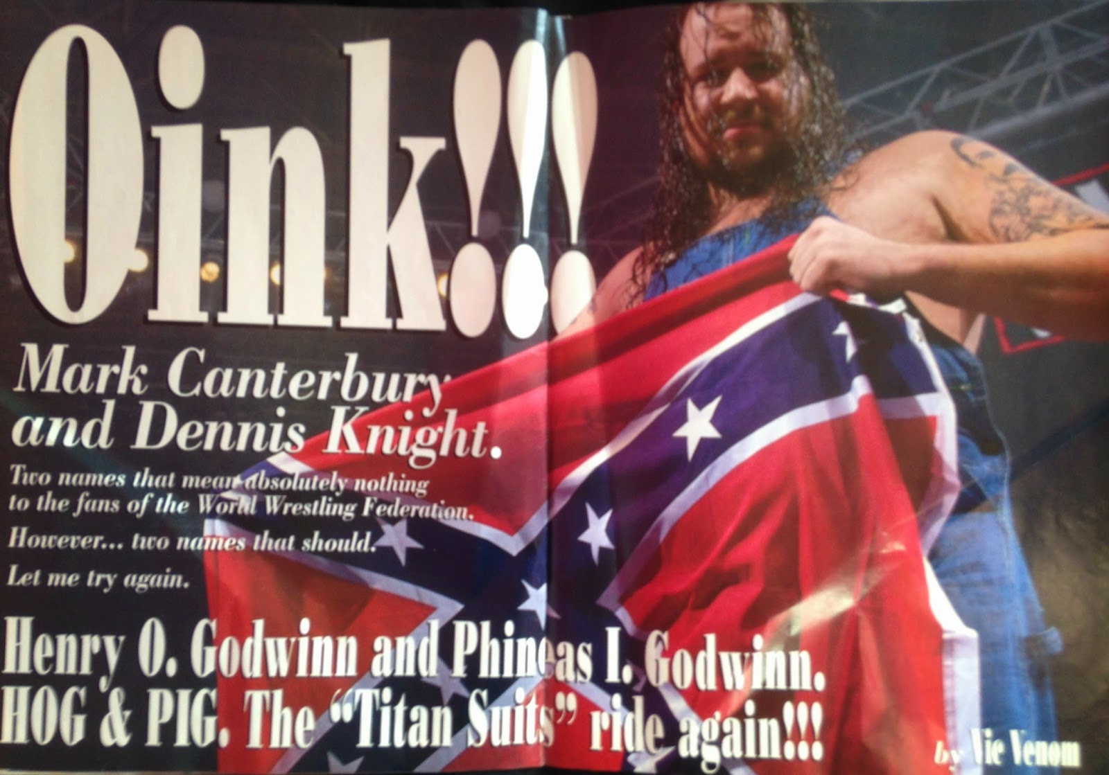 WWE - WWF Raw Magazine - April 1998 - Feature on The Godwins